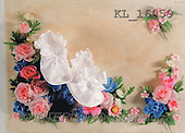Interlitho, Helga, BABIES, photos, baby-shoes, flowers(KL16059,#B#) bébé
