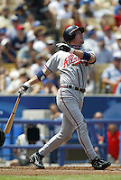 Chipper Jones In an MLB game played at Dodger Stadium between the Los Angeles Dodgers and the Atlanta Braves