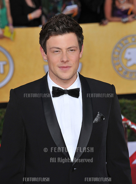 Cory Monteith at the 17th Annual Screen Actors Guild Awards at the Shrine Auditorium, Los Angeles..January 29, 2012  Los Angeles, CA.Picture: Paul Smith / Featureflash