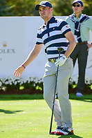 Justin Thomas (USA) watches his tee shot on 6 during round 1 foursomes of the 2017 President's Cup, Liberty National Golf Club, Jersey City, New Jersey, USA. 9/28/2017.<br /> Picture: Golffile   Ken Murray<br /> ll photo usage must carry mandatory copyright credit (&copy; Golffile   Ken Murray)