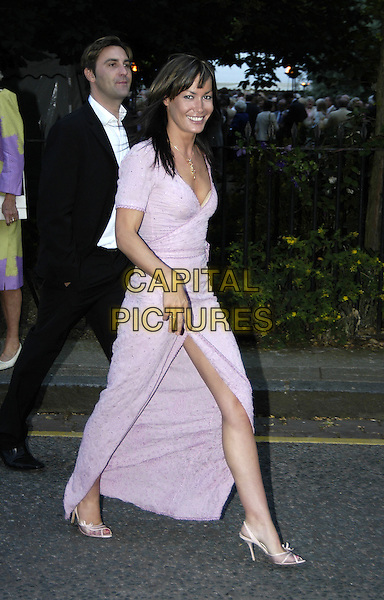 TARA PALMER TOMPKINSON.David Frost's Summer Party.London 6 July 2004.Ref: PL.full length leggy  side split lilac wraparound dress.www.capitalpictures.com.sales@capitalpictures.com.©Capital Pictures