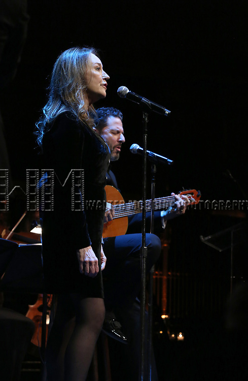 Jessica Molaskey and John Pizzarelli on stage at the  2017 Dramatists Guild Foundation Gala presentation at Gotham Hall on November 6, 2017 in New York City.