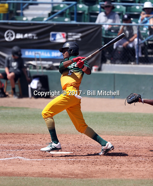 Nicola Malbrough plays in the 2017 Area Code Games on August 6-10, 2017 at Blair Field in Long Beach, California (Bill Mitchell)