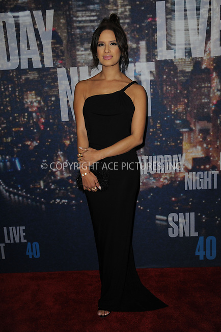 WWW.ACEPIXS.COM<br /> February 15, 2015 New York City<br /> <br /> Rocsi Diaz walking the red carpet at the SNL 40th Anniversary Special at 30 Rockefeller Plaza on February 15, 2015 in New York City.<br /> <br /> Please byline: Kristin Callahan/AcePictures<br /> <br /> ACEPIXS.COM<br /> <br /> Tel: (646) 769 0430<br /> e-mail: info@acepixs.com<br /> web: http://www.acepixs.com