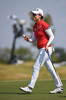 Jeong Eun Lee (KOR) after sinking her putt on 18 during the round 2 of the Volunteers of America Texas Classic, the Old American Golf Club, The Colony, Texas, USA. 10/4/2019.<br /> Picture: Golffile | Ken Murray<br /> <br /> <br /> All photo usage must carry mandatory copyright credit (© Golffile | Ken Murray)