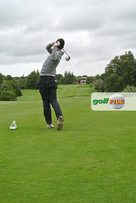 Ryan McKinstry (Cairndhu) on the 9th tee during round 1 of The Mullingar Scratch Cup in Mullingar Golf Club on Sunday 3rd August 2014.<br /> Picture:  Thos Caffrey / www.golffile.ie