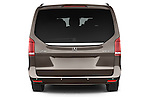 Straight rear view of a 2015 Mercedes Benz V-CLASS AVANTGARDE 5 Door Minivan 2WD Rear View  stock images