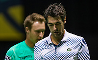 Rotterdam, The Netherlands, 11 Februari 2019, ABNAMRO World Tennis Tournament, Ahoy, first round doubles: Jeremy Chardy (FRA) - Henri Kortinen (FIN) (L)<br /> Photo: www.tennisimages.com/Henk Koster