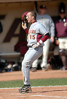Florida State OF Tyler Holt in action vs. Boston College at Shea Field May 9, 2010 in Chestnut Hill, MA (Photo by Ken Babbitt/Four Seam Images)