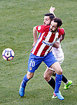 Atletico de Madrid's Juanfran Torres (l) and Sevilla FC's Pablo Sarabia during La Liga match. March 19,2017. (ALTERPHOTOS/Acero)