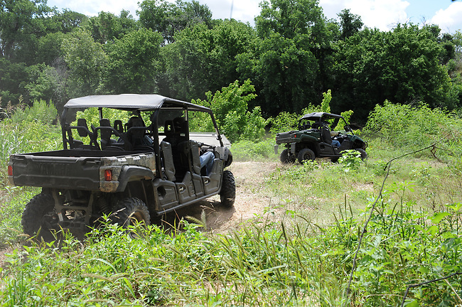 YAMAHA Viking VI side by side UTV<br /> preproduction prototype model<br /> Test ride. Lose Pines Texas