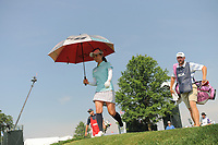 Ai Miyazato (JPN) departs the 16th tee during Thursday's first round of the 72nd U.S. Women's Open Championship, at Trump National Golf Club, Bedminster, New Jersey. 7/13/2017.<br /> Picture: Golffile | Ken Murray<br /> <br /> <br /> All photo usage must carry mandatory copyright credit (&copy; Golffile | Ken Murray)