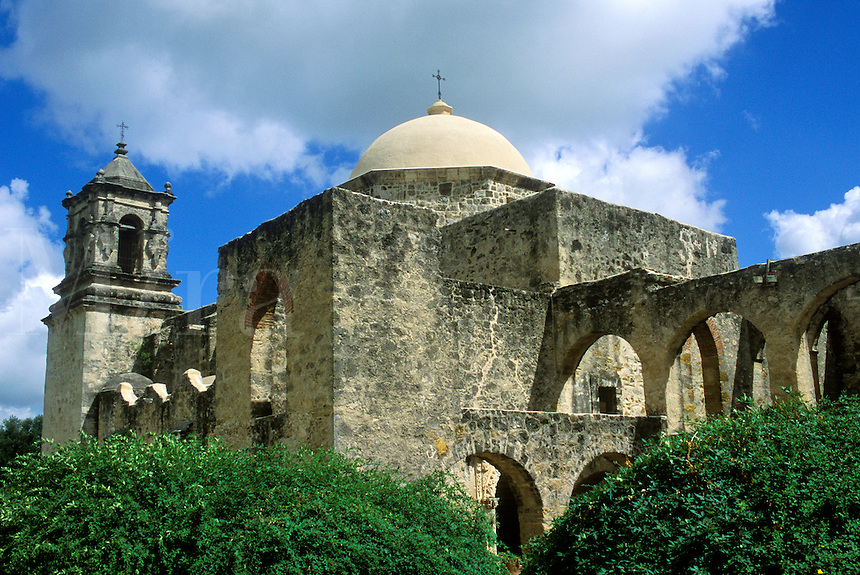 Mission San Jose. Founded in 1720 by Spanish Franciscan missionaries. San Antonio Missions National Park, Texas, TX