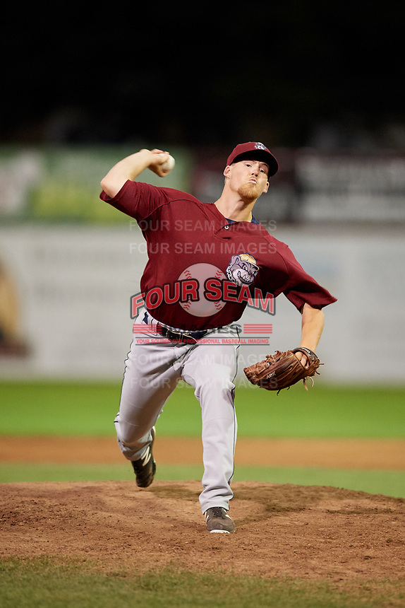 Mahoning Valley Scrappers relief pitcher Jonathan Teaney (30) delivers a pitch during a game against the Batavia Muckdogs on August 18, 2017 at Dwyer Stadium in Batavia, New York.  Mahoning Valley defeated Batavia 8-2.  (Mike Janes/Four Seam Images)