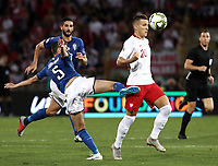 Football: Uefa Nations League match Italy vs Poland, Renato Dall'Ara stadium, Bologna, Italy, September 7, 2018. <br /> Poland's Piotr Zielinski (r) in action with Italy's Jorginho (l) during the Uefa Nations League match between Italy and Poland at the Renato Dall'Ara stadium, Bologna, Italy, September 7, 2018. <br /> <br /> UPDATE IMAGES PRESS/Isabella Bonotto