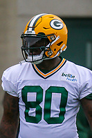 Green Bay Packers tight end Martellus Bennett (80) during an Organized Team Activity on May 23, 2017 at Clarke Hinkle Field in Green Bay, Wisconsin.  (Brad Krause/Krause Sports Photography)