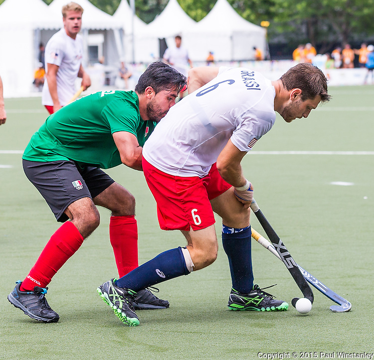 Mexico Men vs USA Men in 5th place game at Pan Am Games 2015 in Toronto, Ontario, Canada