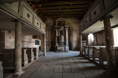 Old abandoned palace in East Germany, this was the family church.