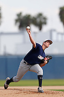Chasen Ford of El Toro High School in Lake Forest, California participates in the Southern California scouts game for high school seniors at the Urban Youth Academy on February 9, 2013 in Compton, California. (Larry Goren/Four Seam Images)