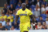 Adebayo Akinfenwa of Wycombe Wanderers during AFC Wimbledon vs Wycombe Wanderers, Sky Bet EFL League 1 Football at the Cherry Red Records Stadium on 31st August 2019