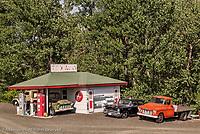 Tom Hennigar's restored Texaco gasStation, Palouse region of eastern Washington.
