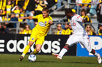 27 MARCH 2010:  Robbie Rogers of the Columbus Crew (19)  and Nana Attakora of Toronto FC (3)   during the Toronto FC at Columbus Crew MLS game in Columbus, Ohio on March 27, 2010. Crew defeated Toronto FC 2-0.