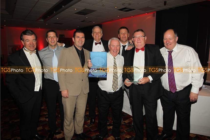 The Management and Committee of AFC Hornchurch celebrate their promotion to the Blue Square South - Ryman League Awards Evening - 09/06/12 - MANDATORY CREDIT: Andy Nunn/TGSPHOTO - Self billing applies where appropriate - 0845 094 6026 - contact@tgsphoto.co.uk - NO UNPAID USE.
