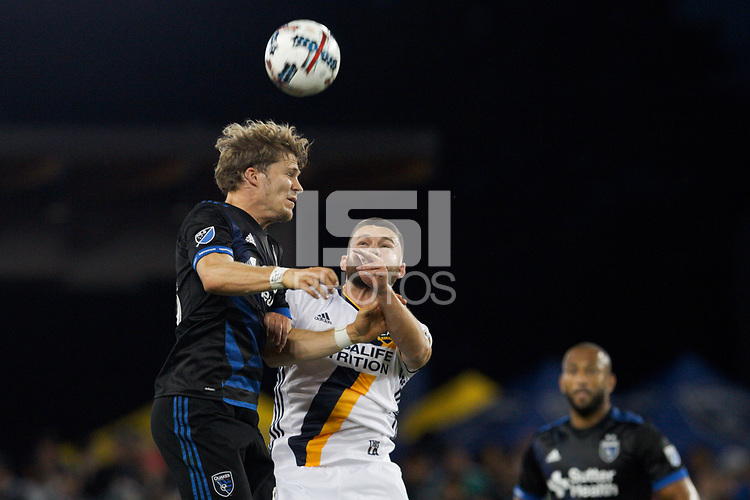 San Jose, CA - Saturday May 27, 2017: Florian Jungwirth during a Major League Soccer (MLS) match between the San Jose Earthquakes and the Los Angeles Galaxy at Avaya Stadium.