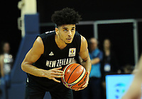 NZ's Tai Webster looks for support during the FIBA World Cup qualifier between the New Zealand Tall Blacks and South Korea at TSB Bank Arena in Wellington, New Zealand on Thursday, 23 November 2017. Photo: Dave Lintott / lintottphoto.co.nz