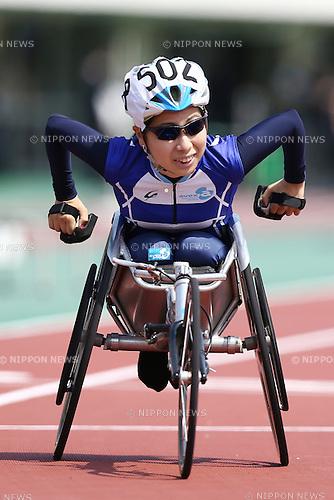 Yuka Kiyama,<br /> APRIL 30, 2016 - Athletics :<br /> Japan Para Athletics Championships<br /> Women's 100m T52 Final<br /> at Coca Cola West Sports Park, Tottori, Japan.<br /> (Photo by Shingo Ito/AFLO SPORT)