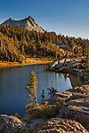 Vogelsang Peak rising above Booth Lake; Yosemite National Park; California