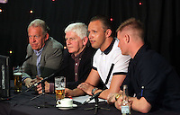 Pictured L-R: Alan Curtis, unidentified, Lee Trundle and Alan Tate Thursday 08 April 2016<br />