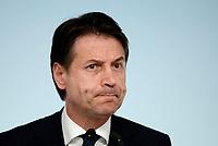 Roma, 24 Luglio 2018<br /> Giuseppe Conte<br /> Conferenza stampa a Palazzo Chigi al termine del Consiglio dei Ministri, Decreto Mille Proroghe