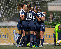 Sanford, FL - Saturday Oct. 14, 2017:  Courage players celebrate a goal during a US Soccer Girls' Development Academy match between Orlando Pride and NC Courage at Seminole Soccer Complex. The Courage defeated the Pride 3-1.