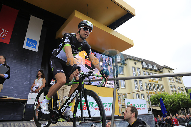Edvald Boasson Hagen (NOR) Team Dimension Data at sign on in Dusseldorf before the start of Stage 2 of the 104th edition of the Tour de France 2017, running 203.5km from Dusseldorf, Germany to Liege, Belgium. 2nd July 2017.<br /> Picture: Eoin Clarke | Cyclefile<br /> <br /> <br /> All photos usage must carry mandatory copyright credit (&copy; Cyclefile | Eoin Clarke)