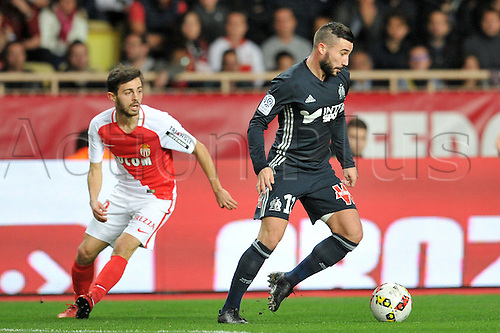 26.11.2016. Monaco, France. French League 1 football. Monaco versus Marseille.  Romain ALESSANDRINI (om) and BERNARDO SILVA (asm)