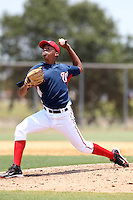 GCL Nationals Gregory Baez #32 during a game against the GCL Mets at the Washington Nationals Minor League Complex on June 20, 2011 in Melbourne, Florida.  The Nationals defeated the Mets 5-3.  (Mike Janes/Four Seam Images)