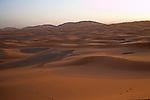 Sunrise, sand dunes of Merzouga, Morocco