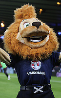 Roary the Lion, Scotland mascot in the Scotland v Macedonia FIFA World Cup Qualifying match at Hampden Park, Glasgow on 11.9.12.