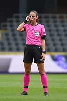 20190813 - ANDERLECHT, BELGIUM : referee Jelena Cvetkovic   pictured during the female soccer game between the Belgian RSCA Ladies – Royal Sporting Club Anderlecht Dames  and the Northern Irish Linfield ladies FC , the third and final game for both teams in the Uefa Womens Champions League Qualifying round in group 8 , Tuesday 13 th August 2019 at the Lotto Park Stadium in Anderlecht  , Belgium  .  PHOTO SPORTPIX.BE   DIRK VUYLSTEKE
