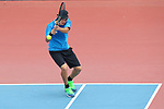 Kaito Uesugi (JPN), <br /> AUGUST 19, 2018 - Tennis : <br /> Mixed Doubles Round 1 <br /> at Jakabaring Sport Center Tennis Court <br /> during the 2018 Jakarta Palembang Asian Games <br /> in Palembang, Indonesia. <br /> (Photo by Yohei Osada/AFLO SPORT)