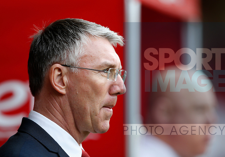 Nigel Adkins manager of Sheffield Utd during the Sky Bet League One match at The Bramall Lane Stadium.  Photo credit should read: Simon Bellis/Sportimage