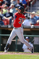 April 14, 2010:  Outfielder Daniel Nava of the Pawtucket Red Sox at bat during a game at Coca-Cola Field in Buffalo, New York.  Pawtucket is the Triple-A International League affiliate of the Boston Red Sox.  Photo By Mike Janes/Four Seam Images