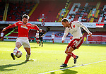Matt Done of Sheffield Utd has his shot blocked by Oliver Turton of Crewe Alexandra during the Sky Bet League One match at Bramall Lane Stadium. Photo credit should read: Simon Bellis/Sportimage