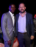 """LOS ANGELES - JULY 08: (L-R) Cast member Damson Idris and FX Entertainment President of Original Programming Nick Grad attend the Red Carpet Event for FX's """"Snowfall"""" Season Three Premiere Screening at USC Bovard Auditorium on July 8, 2019 in Los Angeles, California. (Photo by Frank Micelotta/PictureGroup)"""
