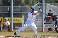 South Dakota State JackRabbits infielder Matt Johnson (9) at bat during a game against the Georgetown Hoyas at South County Regional Park on March 9, 2014 in Port Charlotte, Florida.  Georgetown defeated South Dakota 7-4.  (Mike Janes/Four Seam Images)