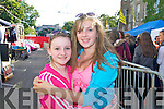 Aisling O'Carroll (Tralee) and Laura Twomey (Listowel) in the queue for the Union J concert at Denny Street on Friday.