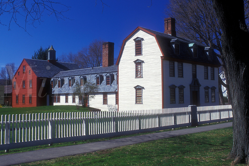 AJ1401, Massachusetts, Deerfield, The Berkshires, Dwight House in Historic Deerfield, Massachusetts in the spring.