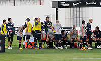 SAO PAULO, SP, 31 DE JANEIRO DE 2012.O jogadores durante Treino do Corinthians no CT Joaquim Grava   - Cangaíba, São Paulo,Brasil(FOTO: ADRIANO LIMA - NEWS FREE)