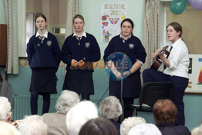 Brenda Gillespie, Deirdre Winters, Michelle Breen and Irene Sands entertaining at the Bealtaine Festival in the Day Care Centre..Picture: Paul Mohan/Newsfile